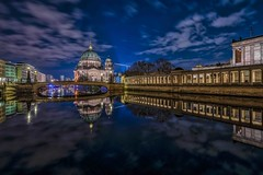BERLIN - DOM (Klaus Mokosch) Tags: berlinerdom berlin night nacht bluehour blauestunde reflection spiegelung urban city stadt spree wasser water cloud klausmokosch hdr wow