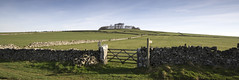 Minninglow Hill (l4ts) Tags: landscape derbyshire peakdistrict whitepeak pikehall minninglowhill minninglow roystongrangetrail neolithic bronzeage cairn trees drystonewalls gate signpost