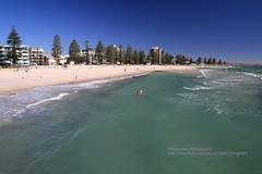 Adelaide, Glenelg, beach (blauepics) Tags: australia australien south südaustralien adelaide glenelg blue blau landscape landschaft water wasser coast küste sand beach strand panorama
