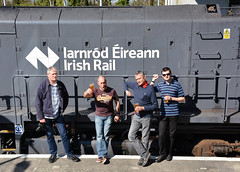 Four blokes and a train (AJF 1) Tags: marbletribesman 081 rpsi ballinasloe