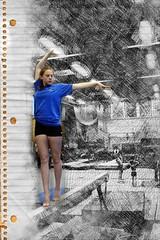 Gymnast Sketch 3d (gavinkenyon564) Tags: photoshop artistic creative 3d sketch pencil popup gymnast texture