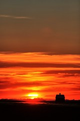 Sunset (Ray Cunningham) Tags: sunset hdr ogden illinois barn prairie