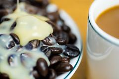 Vietnamess milk coffee (toituclatui) Tags: macromondays glaze sony a7r ilce7r contaxcarlzeisstmakroplanar28100 100mm coffee