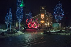 20170323_0094_1 (Bruce McPherson) Tags: brucemcphersonphotography whistlerolympicplaza lowlight nightphotography coloredlights whistlerbynight winter spring snow whistler bc canada whistlervillagenorth whistlernorthvillage