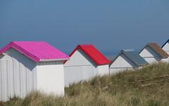 Cabines de plages - Beach hut (Anne DUGAST-SEJOURNE) Tags: cabines de plage beach hut normandie normandy gouville sur mer