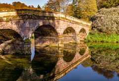 Spring reflection (Anthony White) Tags: stourton england unitedkingdom gb spring reflection stourhead riverstour bridge sony trees nopeople wiltshire gardens nature nationaltrust springtime blue water flowers green light river