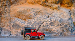 Jeep Next to Mega Breccia (William Horton Photography) Tags: bonanzakingformation california deathvalley deathvalleynationalpark grapevinemountains mojavedesert nationalpark tituscanyon breccia calcite desert dolomite limestone megabreccia slotcanyon