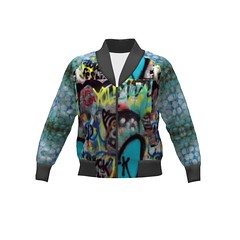 Rigel Bomber #SAGE Street Art Jacket Sprout Patterns (mom_de_bomb) Tags: sage surfaceartistsguildofexcellence fabricaddict sewing sew textiledesign sproutpatterns spoonflower thedailyseam sprout pdfpattern indiedesigners sewingpattern patterns isew fabric surfacedesign textiles