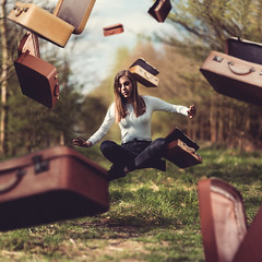 (laurawilliams▲) Tags: suitcase levitate floating garden surreal surrealism