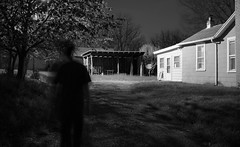 IMG_1448 (e08avenger) Tags: ghost black white photographs spooky fake horror haunted haunting staged old house motion blur monochrome