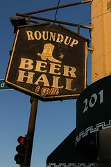 Roundup Beer Hall and Grill (TwinCitiesSeen) Tags: roundupbeerhallandgrill lakestreet minneapolis minnesota twincities twincitiesseen canont3i tamron2875mm sign
