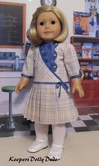 1930s Pleated Frock made to fit American Girl Doll Kit (Keepersdollyduds) Tags: 1930s keepersdollyduds keepers 18 doll dollclothes frock pleats asymmetrical kit