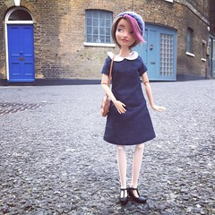 Where have I been all week? Working, I'm afraid. On my way home from a meeting now, hence the smart (1960s-inspired) dressing. #london #ootd #sewing #dress #handsewn #sewcialist #doll #dollphotography #dollstagram #dollsofinstagram (pseudanonymous) Tags: instagramapp square squareformat iphoneography uploaded:by=instagram hudson