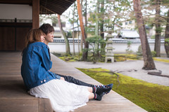 Young couple leaning each other in front of Japanese garden (Apricot Cafe) Tags: img27118 2024years asia asianandindianethnicities hyakumanbenchionjitemple japan japaneseethnicity kyotocity kyotoprefecture sigma35mmf14dghsmart youngcoupledatingintempleinkyoto carefree casualclothing charming cheerful citylife couplerelationship dating day enjoyment freedom friendship fulllength garden happiness horizontal indoors leaning lifestyles men photography relaxation sideview smiling springtime temple twopeople walking weekendactivities women youngadult