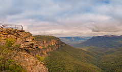 Elysian Rock (Anthony's Olympus Adventures) Tags: bluemountains nsw australia sydney mountain lookout stunning view amazing beautiful trees rocks sky pano panoramic panorama olympusem10 olympus olympusomd photography leura newsouthwales travel elysian green path landscape