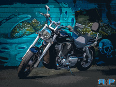 "Honda VTX1800C Artsy (Rodney Hickey Photography) Tags: motorcyclehondavtx1800grafitti rodneyhickey rodneyhickeyphotography rodneyhickeyphotographyanddesign rhp halifax adobe adobecs adobecreativesuite lightroom olympus omd em1 ""em1 mark ii"" ""micro four thirds"" micro 43 zuiko zuiko"" mzuiko ""lower sackvillemiddle sackvillebedforddartmouthnova scotia sackville ns canada photoshop portraiture landscape wwwrodneyhickeyphotographyca httpwwwrodneyhickeyphotographyca machine beast motorcycle ride fun art artsy blue"