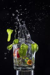 splash-2 (hellenitta) Tags: splash water drinks glass speed mint freeze