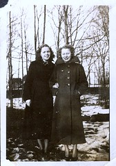 February 28th, 1937 (haunted snowfort) Tags: grandmother oldfamilyphoto familyphoto vintage antique canada ontario niagara mildred mildredbaker mildredrichardson richardson baker bw blackandwhite february 1937 february28th1937