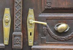 (:Linda:) Tags: germany bavaria franconia badkönigshofen town browndoor doorhandle knob rhomb