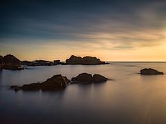 A Dimming (stephen cosh) Tags: ayrshire hasselblad hasselbladx1d hasselbladxcd45mm landscape mediumformat rocks scotland seascape stephencosh sunset
