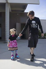 Learning With Daddy (evaxebra) Tags: luna roller skating lessons rollerskate rollerskating learn minnie mouse dress ryan