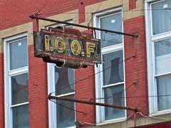 I.O.O.F., Clarksburg, WV (Robby Virus) Tags: sign temple hall neon ghost odd westvirginia fraternal organization fellows ioof clarksburg