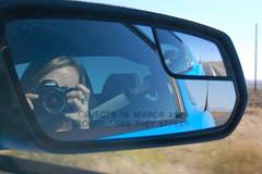 Between Hoover Dam & Grand Canyon (elliemcc11) Tags: usa selfportrait reflection mirror honeymoon grandcanyon roadtrip september hooverdam selfie 2011