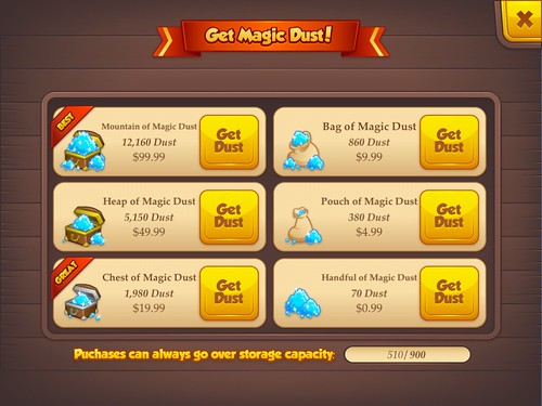 Tiny Castle Virtual currency Bank: screenshots, UI