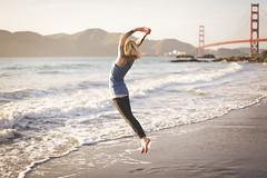 (333Bracket) Tags: ocean sanfrancisco california sea mountains love girl flying jump waves tattoos dreaming ef50mmf14 goldengatebridge fullframe 333bracket canon5dmk2