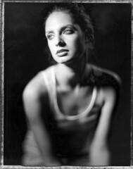 Theo (Braca Nadezdic) Tags: portrait blackandwhite bw studio polaroid kodak negative expired graflex speedgraphic polaroid55 aeroektar