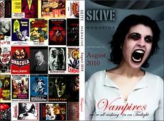Cover Design: SKIVE MAGAZINE, 'Vampires', Aug. 2010 (mattwardpix) Tags: magazine newcastle book design australia cover nsw vampires skive matthewward