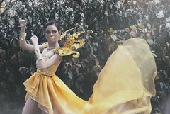 Majestic Yellow (JanJanCapili) Tags: portrait motion postprocessed art colors fashion yellow photoshop glamour gloomy photoshoot shot image candid wildlife surreal portraiture manila dreamy wilderness majestic couture quezon sining kulay gcouture emilysoto fashionactions