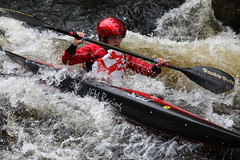 Get them while they're young. (threejumps) Tags: whitewater kayak paddle rapid slalom paddler youngpaddler