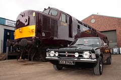 Cortina.BH.10.5.14 (deltic17) Tags: cortina hill barrow mk3 fordcortina class37 wcrc barrowhillroundhouse westcoastrailways 37669