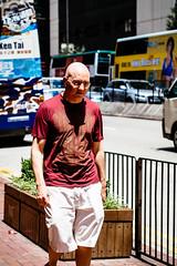 Shining head (anthonyleungkc) Tags: street hongkong candid bald olympus snap stare f18 shining 45mm omd lightroom m43 mft mzd em5 microfourthirds mzuikodigital