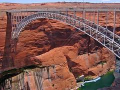 Glen Canyon Dam Bridge (AntyDiluvian) Tags: bridge arizona marina arch desert dam page coloradoriver lakepowell glencanyondam glencanyondambridge