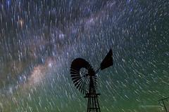 Karoo Windmill Star Trails (TheAstroShake) Tags: sky windmill night stars space astrophotography astronomy startrails milkyway karoo