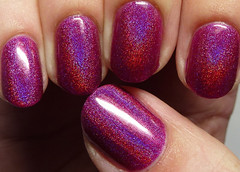 Glitzkrieg War Paint Whore-deaux (http://www.thepolishedhippy.com) Tags: pink swatch war paint purple nail magenta polish indie jelly etsy shimmer holographic varnish swatches lacquer glitzkrieg holo