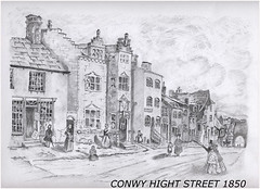 Conwy High Street 1850 (rutter2011) Tags: pencil sketch drawings conwy