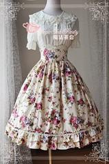 Magic Tea Party Elegant Flower Lolita Skirt (lindasunx) Tags: dress skirt lolita lolitadress lolitadresses