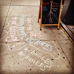 Layers of the past - Whispering through centuries - Are you listening? (ghm575) Tags: nyc les lowereastside creativeplacemaking chalkles ghmles