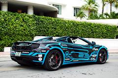 Team Wolfpack | 12C (Hilgram Photography) Tags: blue cars grid spider miami wrap exotic mclaren custom tron 3000 supercar spotting gumball 12c mp412c