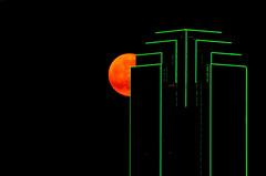 Moonrise Over Dallas (barrykooda) Tags: moon dallas downtown moonrise bankofamericabuilding