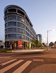 Grunwaldzki center (Bless your life) Tags: longexposure architecture modern night contemporary modernism poland polska wrocaw thebluehour architektura modernizm
