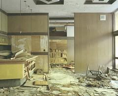 abandoned inn (Egg Cheung) Tags: abandoned 120 film japan hotel inn desk decay front lobby medium 6x7 hotspring spa urbex haikyo  fujicolorpro400h fujifilmgf670professional wwwfacebookcomurbanfragment