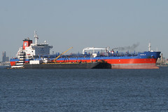 INYALA in New York, USA. May, 2014 (Tom Turner - SeaTeamImages / AirTeamImages) Tags: city nyc blue red usa newyork water port bay harbor marine ship unitedstates harbour transport anchorage pony maritime transportation anchor statenisland bigapple tanker rd waterway stapleton tomturner inyala