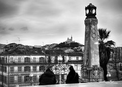 Street Photography Marseille (Guillaume Fuet) Tags: white black saint canon de la marseille couple gare charles notredame 1750 and tamron vc sdf garde 600d
