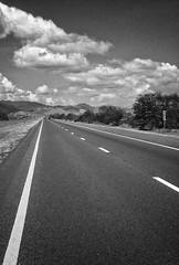 One tough journey awaits... (WilfredoCC) Tags: road sky mountain clouds puertorico line asphalt