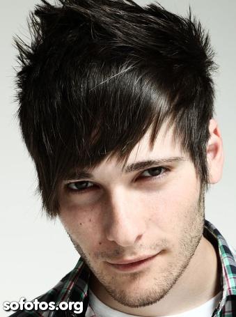 corte de cabelo masculino com franja