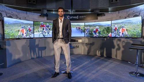 Rubén Cortada en un acto promocional de Samsung